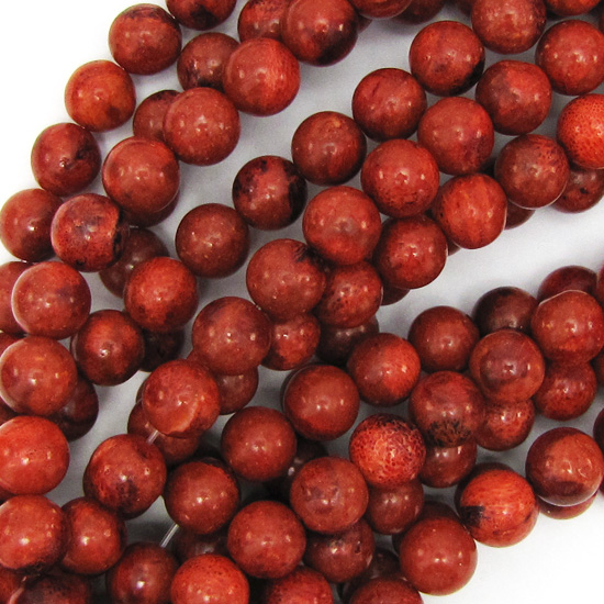Red-Sponge-Coral-Round-Beads-Gemstone-15-5-034-Strand-4mm-6mm-8mm-10mm-12mm